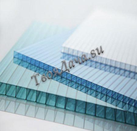 Купить сотовый поликарбонат 6, 8, 10мм цветной прозрачный